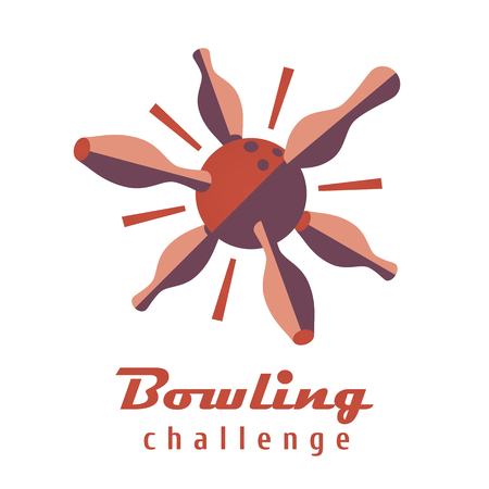 Bowling logo vector template. Logotype for bowling club, bowling tournament