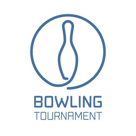 Bowling Logo Vektor. Bowling Sport-Konzept Zeichen, Design-Element Standard-Bild - 54530235