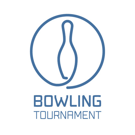 Bowling logo vector. Bowling sport concept sign, design element