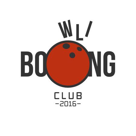 Vecteur de bowling logo. Modèle pour le bowling concept sportif logo