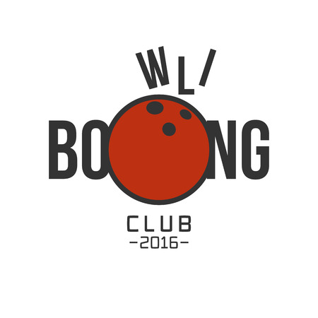 sport background: Vector bowling logo. Template for bowling sport concept logo Illustration