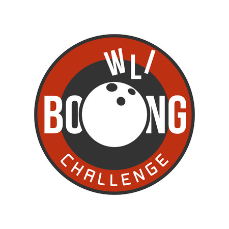 bowling pin: Vector bowling logo. Template for bowling, challenge