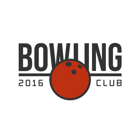 strike: Vector bowling logotype. Template for bowling club, tournament, champion