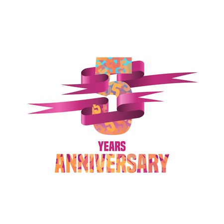 five years': Vector design for five years anniversary celebration