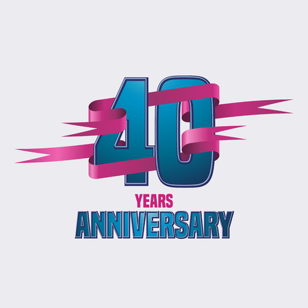 40th: Vector design for Forty years anniversary celebration Illustration