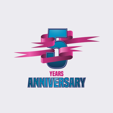 five years': Vector logo for five years anniversary celebration Illustration