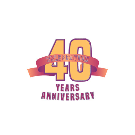 40th: Vector design for 40 years anniversary celebration