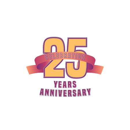 twenty fifth: Vector design for twenty five years anniversary celebration Illustration
