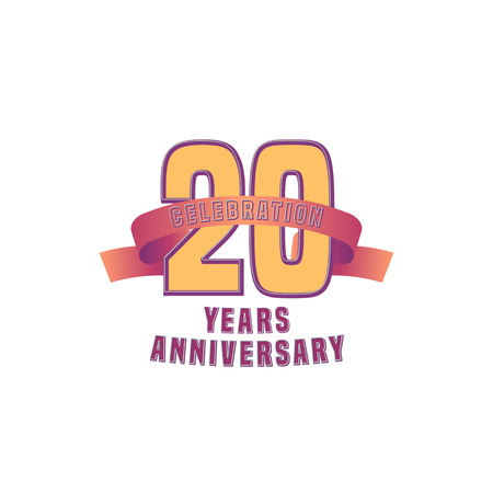 20: Vector design for 20 years anniversary celebration