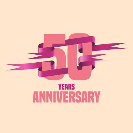 the fiftieth: Vector design for fifty years anniversary celebration