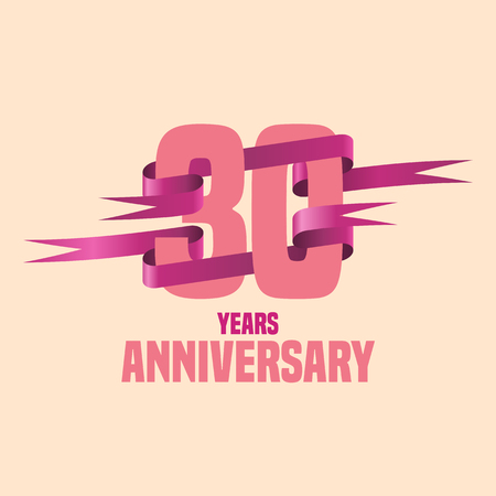 thirty: Vector design for Thirty years anniversary celebration Illustration