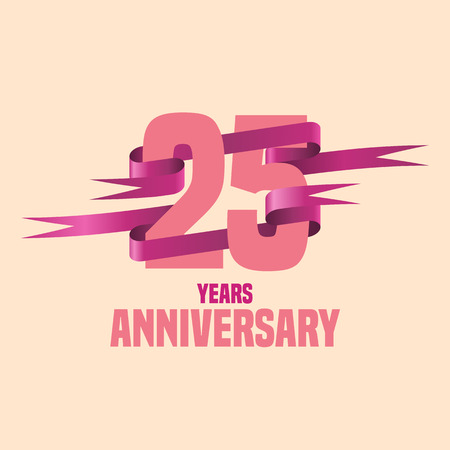 the twenty fifth: Vector design for twenty five years anniversary celebration Illustration
