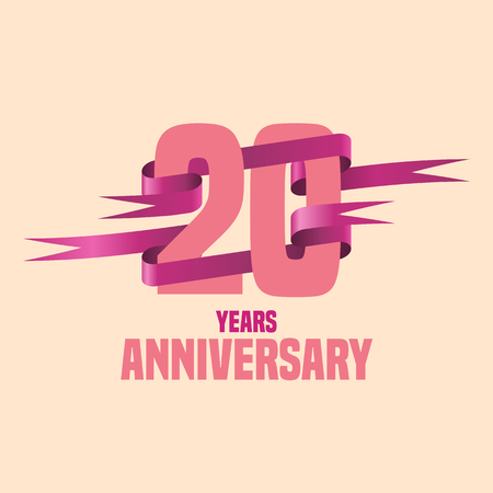 twenty: Vector design for twenty years anniversary celebration template logo