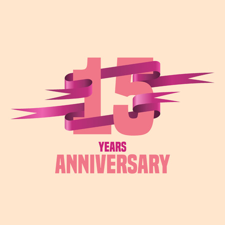 Vector design for fifteen years anniversary celebration Ilustrace