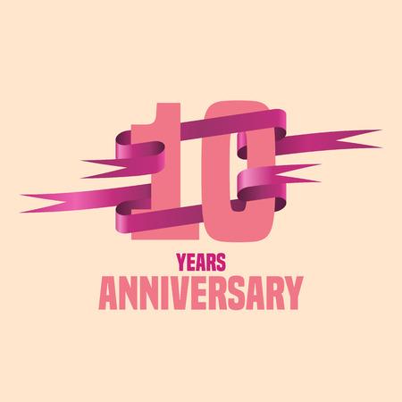ten years jubilee: Vector design for ten years anniversary celebration Illustration