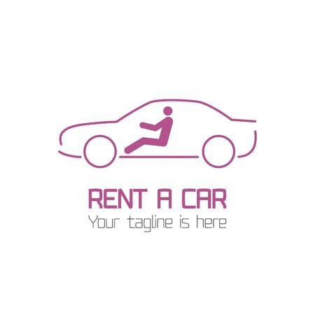 Vector Vorlage der Autovermietung Firmenlogo, rent-a-car. Automobil-Logo-Vorlage Vektor Design