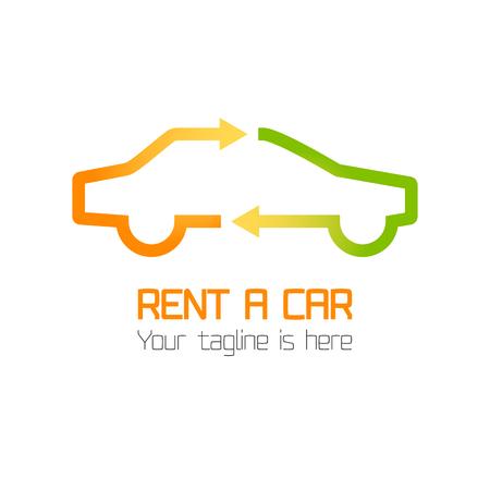Vector template van autoverhuur bedrijfslogo, rent-a-car. Automotive logo vector template design