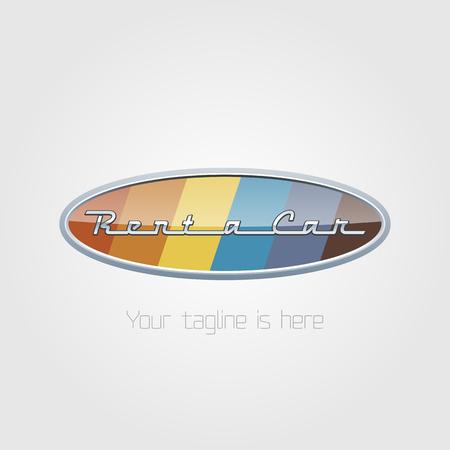 rentals: Vector car rentals label. Vector logo design template