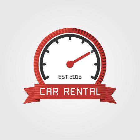 rentals: Vector car rentals label. Vector logo design template. Concept for automobile repair service, spare parts store