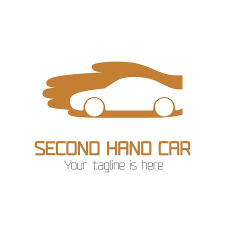 Używane samochody sklepie wektor logo. element projektu dla sprzedaży samochodów Logo