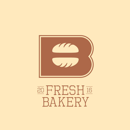 old style lettering: Vector logo, design element for bakery. Original design icon, sign