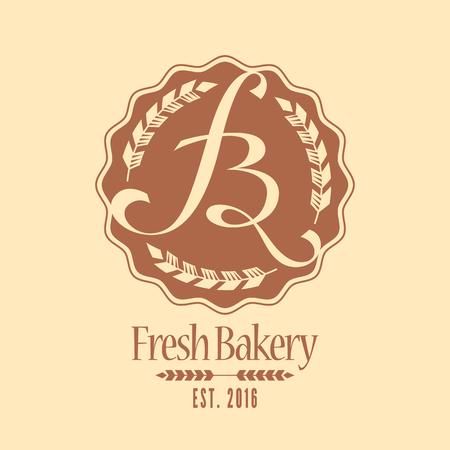 Vector logo, élément de design pour la boulangerie. Vintage icône de style, signe Banque d'images - 54530461