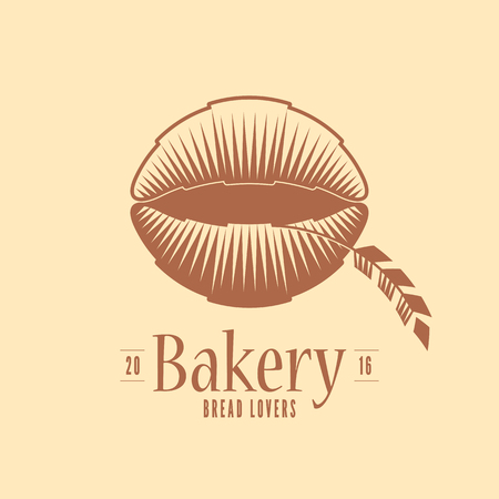 french bakery: Vector logo, design element for bakery. Original design for traditional bakery. French croissants