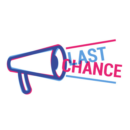 last chance: Vector Last Chance eye catching label. Shopping