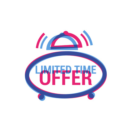limited time: Vector Limited Time Offer eye catching label. Shopping