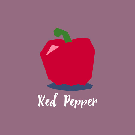 red pepper: Red pepper vector illustration in modern flat style