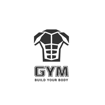 perfect body: Gym, fitness, sport club vector logo. Sport and fitness concept Illustration