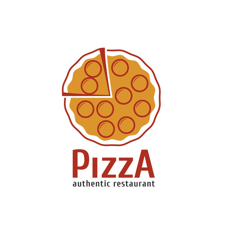 Vector logo, design element for pizza, pizzeria, pizza delivery, Italian restaurant  イラスト・ベクター素材