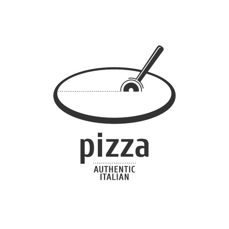 caf: Vector logo, design element for pizza, pizzeria, pizza delivery, Italian restaurant Illustration