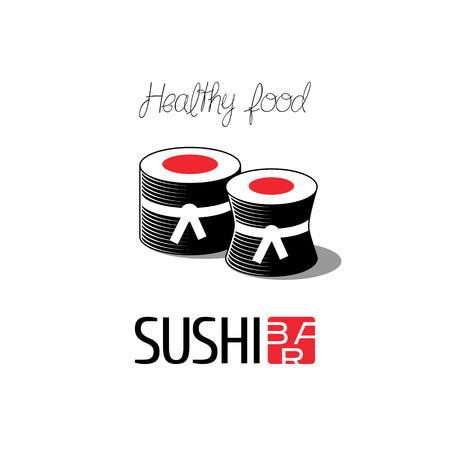 sushi restaurant: Vector logo, design element for sushi restaurant, Japanese cuisine