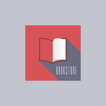 bookstore: Bookstore vector concept logo template with open book