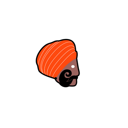 traditional clothing: Vector avatar of Hindu man in traditional clothing. Isolated white background Illustration