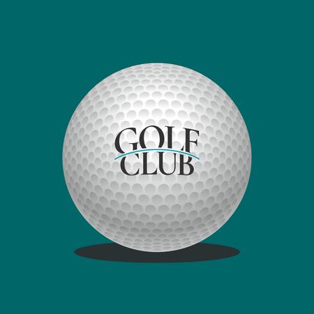 balones deportivos: logotipo del golf plantilla de vector. emblema campo de golf