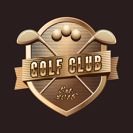 Vector logotype for golf club, golf course. Design element for golf tournament