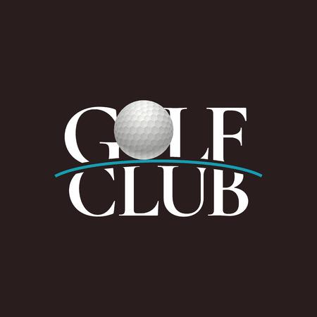 Golf club, golf course vector logo, badge Logó