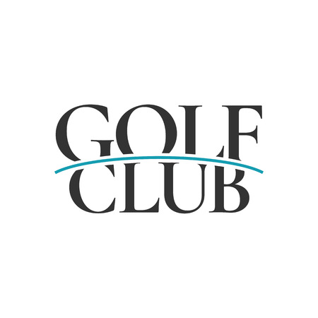 Golf logo vector template. Golf course, golf club emblem