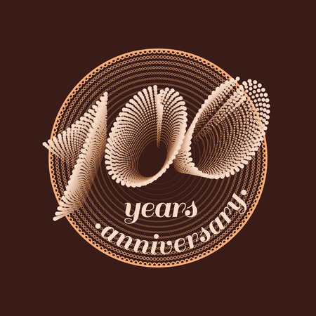 one year old: 100 years anniversary vector icon. 100th celebration design. Golden jubilee symbol