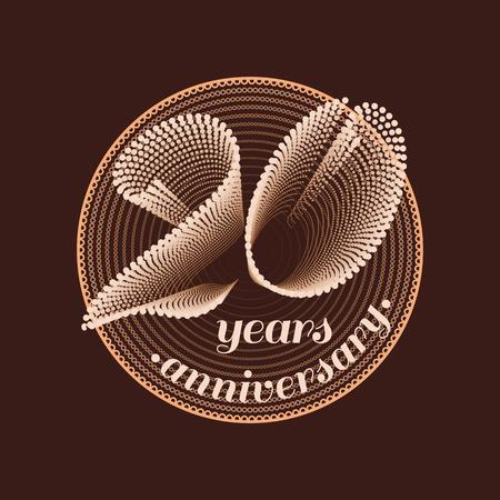20 years anniversary vector icon. 20th celebration design. Golden jubilee symbol