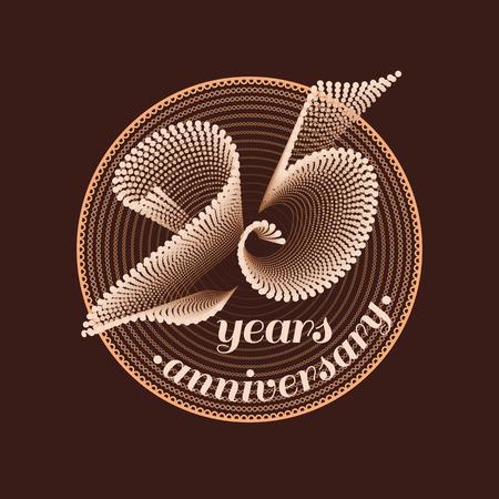 25 years anniversary vector icon. 25th celebration design. Golden jubilee symbol
