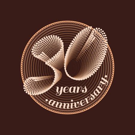 30 years anniversary vector icon. 30th celebration design. Golden jubilee symbol  イラスト・ベクター素材