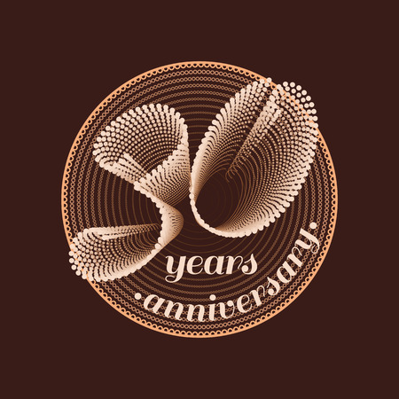 30 years anniversary vector icon. 30th celebration design. Golden jubilee symbol Stok Fotoğraf - 56044603