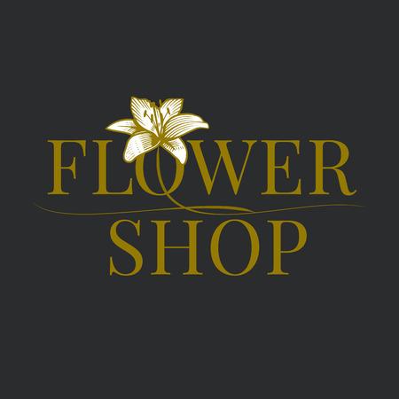 Bloemenwinkel logo vector. Florist teken sjabloon