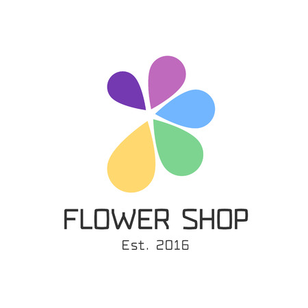 florist: Flower shop vector. Florist design template Illustration