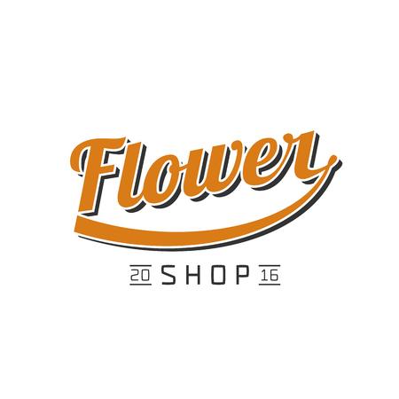 florist: Flower shop vector. Florist sign design