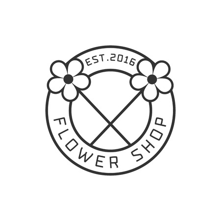 florist: Flower shop vector. Florist background, design element