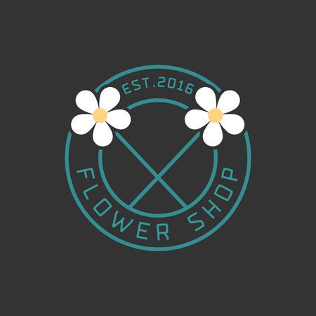 florist: Flower shop vector. Florist sign template Illustration